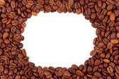 Frame made of coffee — Stock Photo