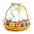 Easter eggs in basket — Stock Photo #4211378