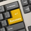 Computer keyboard -  gold key Success - Stock Photo
