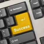 Computer keyboard - gold key Success — Stock Photo #4211468
