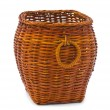 Retro wood basket — Stock Photo