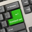 Keyboard - green key Contact us — Stock Photo