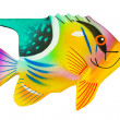 Toy exotic fish — Stock Photo
