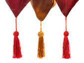 Textile and tassels — Stock Photo