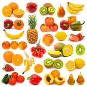 Conjunto de frutas e legumes — Foto Stock