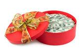 подарок с деньгами — Стоковое фото