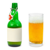 Bottle and glass of beer — Stock Photo