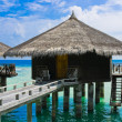 Stock Photo: Water bungalows