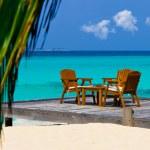 café na praia — Fotografia Stock  #4233249