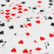 Playing cards background - Stock Photo
