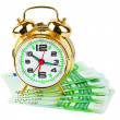 Royalty-Free Stock Photo: Alarm clock and money