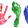Royalty-Free Stock Photo: Printout of hand, foot and finger