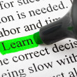Highlighter and word Learn — Stock Photo