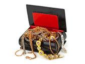 Box with jewelry — Stock Photo