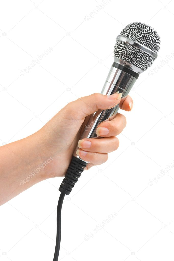 Microphone In Hand : Hand with microphone — stock photo violin