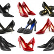 Collection of woman shoes - Stock Photo