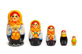 Russian toy matrioska — Stock Photo