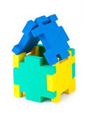 House made of puzzle — Stock Photo