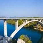 River Krka and bridge in Croatia — Stock Photo #4253645