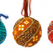 Set of colorful christmas balls — Stok fotoğraf