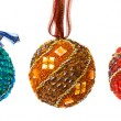 Set of colorful christmas balls — Stock Photo #4257342