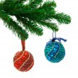 Christmas tree and balls — Stock Photo #4259353