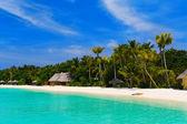 Beach at a tropical island — Stock Photo