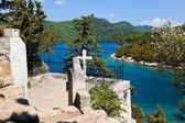 Grave on island Mljet in Croatia — Stock Photo