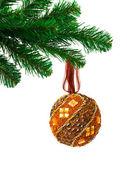 Christmas tree and ball — Stock Photo
