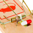 Mousetrap and pill — Stock Photo