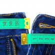 Jeans and measuring tape — Stock Photo #4262728