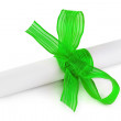 Paper scroll and bow — Foto de Stock