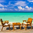 cafe on the beach — Stock Photo