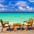 Foto Stock: Cafe on the beach