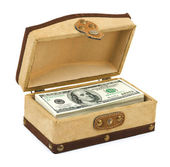 Money in box — Stock Photo