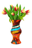 Kwiaty tulipany w wazonie — Zdjęcie stockowe