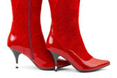 Red woman shoes — Stock Photo