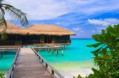 在一个热带岛屿上水平房 — 图库照片