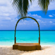 Wedding archway at tropical beach - Stock Photo