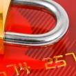 Lock and credit card — Stock Photo #4273010