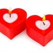 Heart shaped candles — Stock Photo