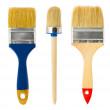 Three paintbrushes — Stock Photo