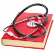 Royalty-Free Stock Photo: Stethoscope and book