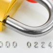 Lock and credit card — Stock Photo