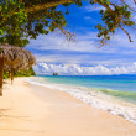 Tropical beach at island La Digue, Seychelles — Stock Photo