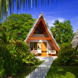 Stock Photo: Bungalow in hotel at tropical beach, Seychelles