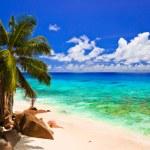 Tropical beach at island La Digue, Seychelles — Stock Photo #4277821