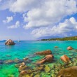 Royalty-Free Stock Photo: Panorama of beach Anse Lazio at Seychelles