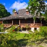Retro colonial house — Stock Photo #4279335