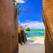 Beach Source d'Argent at Seychelles - Stock Photo